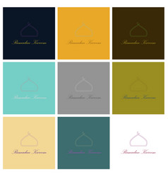 Set icons in flat style ramadan logo vector