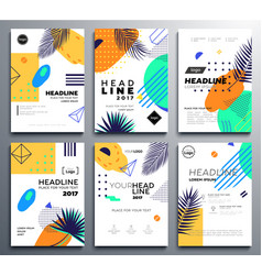 Set of presentation booklet covers - modern vector