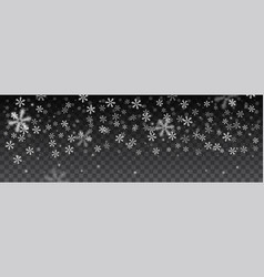 snowflakes in different shapes background vector image