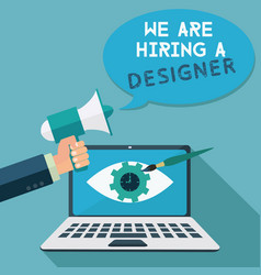Staff hiring for a digital designer megaphone vector