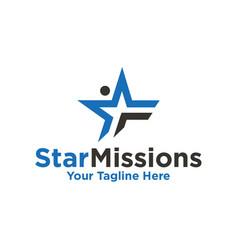 Star mission logo vector