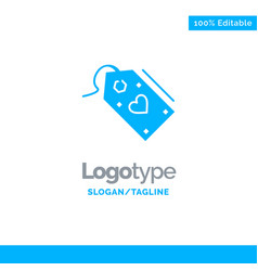 tag sale valentine discount offer blue solid logo vector image
