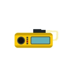 Taxi radio icon in flat style vector