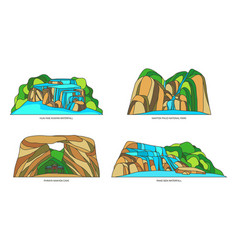 thailand or siam thai natural landscapes vector image