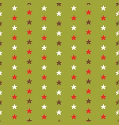 tiny christmas stars hand drawn brown vector image
