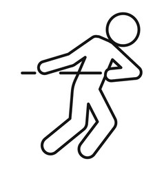 Tug war game icon outline style vector