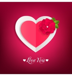 Valentines day typographical background with paper vector image