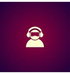 Virtual reality headset icon flat design vector image