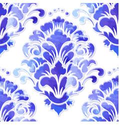 Volumetric damask seamless pattern element vector