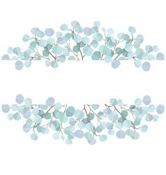 Wedding vignette with eucalyptus branches vector