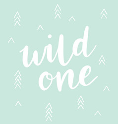 Wild one brush calligraphy with triangles arrows vector