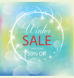 winter sale collection with lights vector image