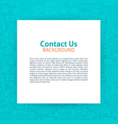 contact us paper template vector image