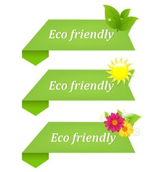 eco friendly ribbons vector image
