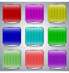 Glass buttons collection vector image vector image