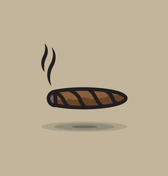 icon smoking cigar on gray background vector image