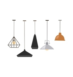 Lamps isolated vector image vector image