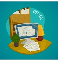 Office Design Concept Set vector image vector image