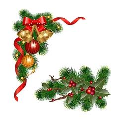 Christmas decorative elements vector image