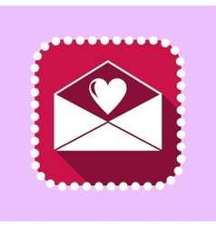 flat icon for Valentines day vector image
