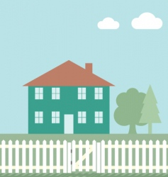 house fence vector image vector image