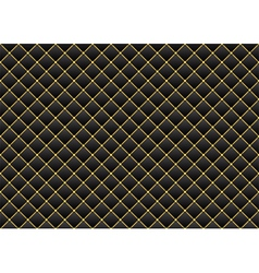 Leather black gold background vector image vector image