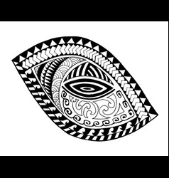 Maori style tattoo design vector