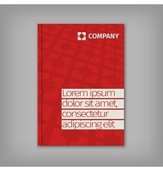 Red business design with headline and pattern vector image vector image
