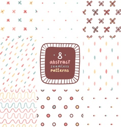 Simple abstract patterns set vector