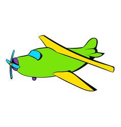 biplane icon icon cartoon vector image vector image