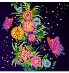 celestial garden vector image vector image