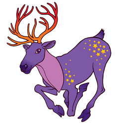 cute alive deer running vector image vector image
