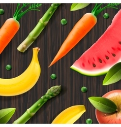 Healthy fresh organic products advertising poster vector image vector image