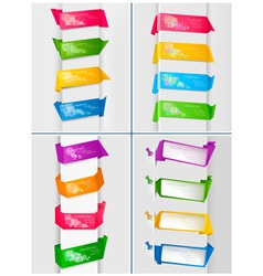 huge set of colorful origami vector image vector image