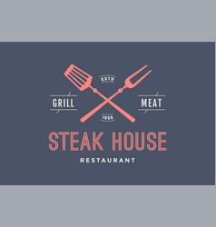 logo of steak house vector image