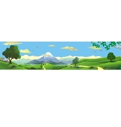 Panorama of nature - the mountains on the horizon vector image