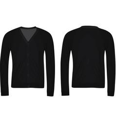 black cardigan vector image