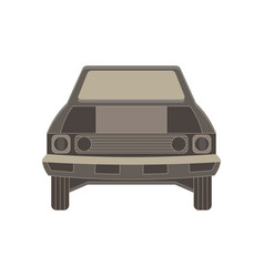 car front flat view vehicle icon isolated auto vector image vector image
