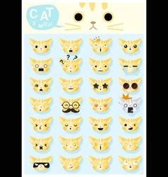 Cat emoji icons 2 vector image vector image