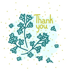 Floral thank you vector image vector image