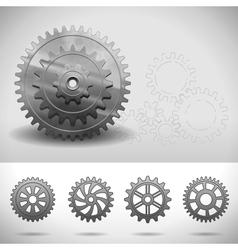 gear wheels cogwheels vector image vector image