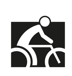 square block cycling sport figure outline symbol vector image