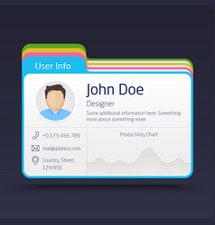 User Info Card vector image vector image