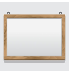 Wood frame isolated on white vector image vector image