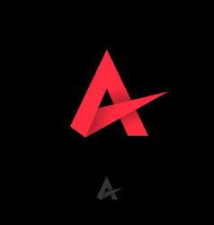 a monogram letter logo red letter vector image