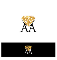 aa letter vector image