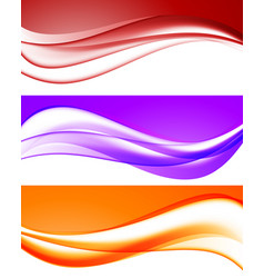 abstract bright waves collection vector image