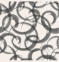 abstract seamless pattern swirling lines vector image