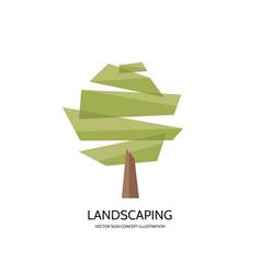 Abstract tree logo template concept vector