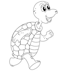 Animal outline for turtle vector